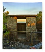 Old Army Lookout In Sunset Hour Fleece Blanket