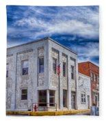 Old Bank Building - Peterstown West Virginia Fleece Blanket