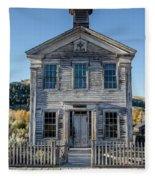 Old Bannack Schoolhouse And Masonic Temple 2 Fleece Blanket