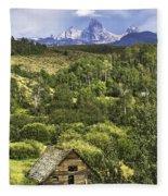 Old Barn, Grand Tetons Fleece Blanket