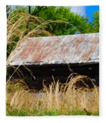 Old Barn In Roxborough Fleece Blanket