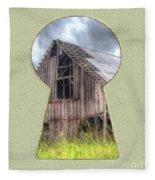 Old Barn Keyhole Fleece Blanket