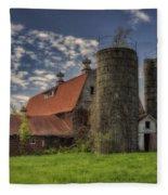 Old Barn Near Sedalia Mo Dsc01900 Fleece Blanket