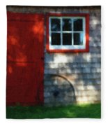 Old Barn New Paint Fleece Blanket