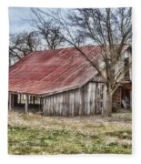 Old Barn Fleece Blanket