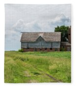Old Barn Country Scene 4 A Fleece Blanket