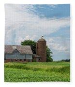 Old Barn Country Scene 4 B Fleece Blanket