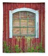 Old Barn Window Fleece Blanket