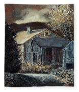 Old Barns Fleece Blanket