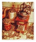 Old Bean Mill Decor. Kitchen Art Fleece Blanket