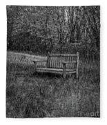Old Bench Concord Massachusetts Fleece Blanket