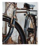Old Bike II Fleece Blanket