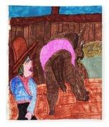 Old Blue Fleece Blanket