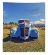 Old Blue Truck Vermont Fleece Blanket