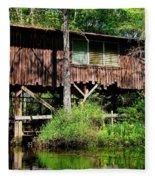 Old Boat House Fleece Blanket