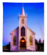 Old Bodega Church Sunset Fleece Blanket