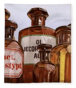 Old Bottles Fleece Blanket