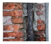 Old Brick Wall Abstract Fleece Blanket