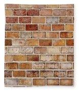 Old Brick Wall Fleece Blanket