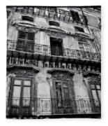 Old Building In Sicily Fleece Blanket