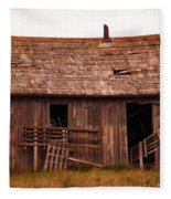 Old Building Fleece Blanket
