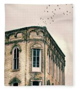 Old Building Fleece Blanket