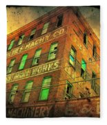 Old Empty Building In Retro Colors Fleece Blanket