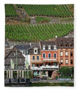 Old Buildings And Vineyards Fleece Blanket