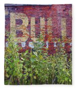 Old Bull Durham Sign - Delta Fleece Blanket