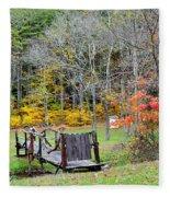Old Cabin Fleece Blanket