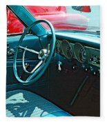 Old Car Interior Fleece Blanket