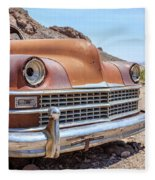 Old Cars In The Desert, Eldorado Canyon, Nevada Fleece Blanket by Edward Fielding