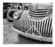 Old Chevy Pickup Fleece Blanket