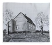 Old Church At Beatties  Ford Fleece Blanket