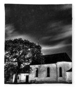 Old Church B/w  Fleece Blanket