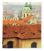 Old Church In Prague Fleece Blanket