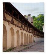 Old City Wall In St Alban Basel Switzerland Fleece Blanket