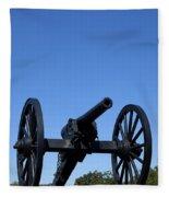 Old Civil War Cannon Fleece Blanket