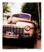 Old Classic Dodge, On The Streets Of Buenos Aires Fleece Blanket