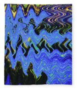 Old Columbia River Water Front Abstract Fleece Blanket