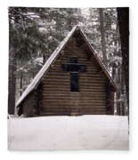 Old Country Church Fleece Blanket
