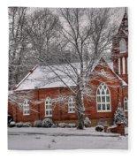 Old Country Church Fleece Blanket
