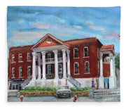 Old Courthouse In Ellijay Ga - Gilmer County Courthouse Fleece Blanket