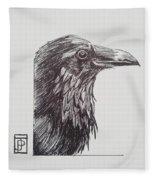 Old Crow Fleece Blanket