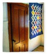 Old Door - New Quilt Fleece Blanket