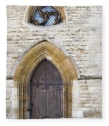Old Door And Window York Fleece Blanket