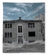 Old Edmonton High School Ir 2 Fleece Blanket