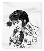 Old Elvis Fleece Blanket