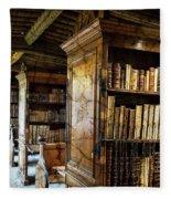 Old English Library Fleece Blanket