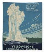 Old Faithful At Yellowstone Fleece Blanket